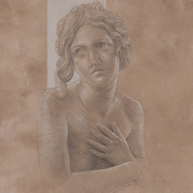 Silverpoint drawing of Dircé