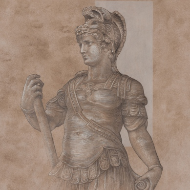 Silverpoint drawing of Cosimo l De Medici