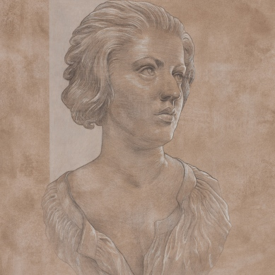 Silverpoint drawing of Costanza Bonarelli