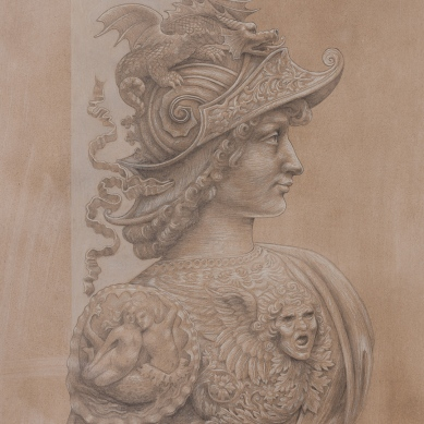 Silverpoint drawing of Alexander the Great