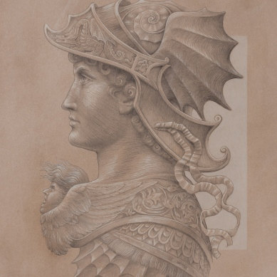Silverpoint drawing of Hannibal