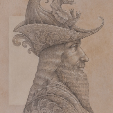 Silverpoint drawing of Sultan Mehmet II