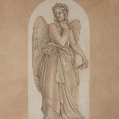 Silverpoint drawing of Santo Varni